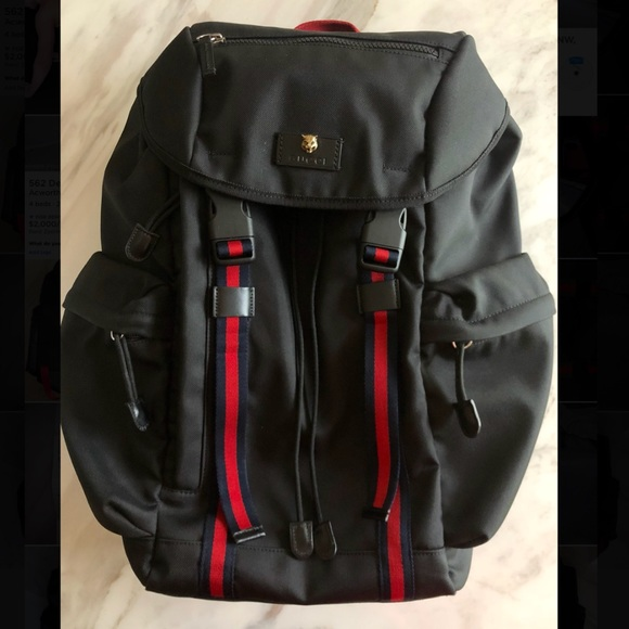 9a1f2ae13013 Gucci Bags | Black Techno Canvas Backpack | Poshmark